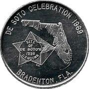 Token - De Soto Celebration (Bradenton, Florida) – avers