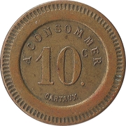 10 centimes A consommer (montagne) – revers
