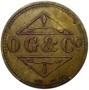 1 ½ shilling - Osborne, Garret & Co (O. G. & Co) – avers