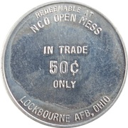 50 Cents - NCO Open Mess (Lockbourne AFB, Ohio) – avers