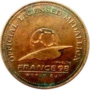 Official Licensed Medallion France 98 World Cup (Iran) – revers
