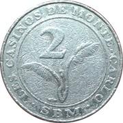 2 francs Casino de Monte Carlo – revers