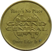 Jeton de jeu - Grand Central RollerBowl – avers