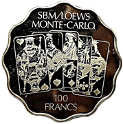100 Francs - SBM/Loews Monte-Carlo Casino – avers