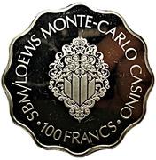 100 Francs - SBM/Loews Monte-Carlo Casino – revers