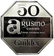 50 guilder - Arusino Casino (Aruba Caribbean Hotel) – avers