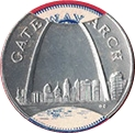 Jeton - Sunoco Landmarks of America (Gateway Arch; Instant Winner) – avers