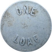 1 Loaf Bakery Token - Newcastle and Suburban Co-operative Society – revers