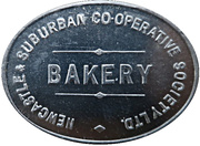 1 Loaf Bakery Token - Newcastle & Suburban Co-operative Society – avers
