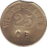 """25 Pfennig (Werth-Marke; Countermarked """"CH"""") – avers"""