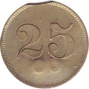 """25 Pfennig (Werth-Marke; Countermarked """"CH"""") – revers"""