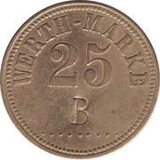 """25 Pfennig (Werth-Marke; Countermarked """"B"""") – avers"""