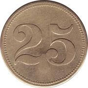"""25 Pfennig (Werth-Marke; Countermarked """"B"""") – revers"""