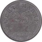 25 Pfennig (Wert-Marke; Zinc) – avers