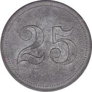 25 Pfennig (Wert-Marke; Zinc) – revers