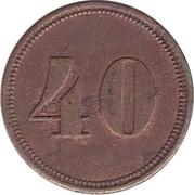 40 Pfennig (Werth-Marke) – avers