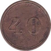 40 Pfennig (Werth-Marke) – revers