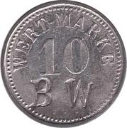 """10 Pfennig (Wert-Marke; Countermarked """"BW"""") – avers"""