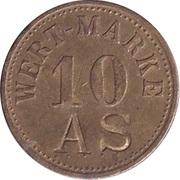 """10 Pfennig (Wert-Marke; Countermarked """"AS"""") – avers"""