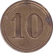 """10 Pfennig (Wert-Marke; Countermarked """"AS"""") – revers"""