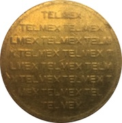 Telephone Token - Ladatel - Telmex – revers