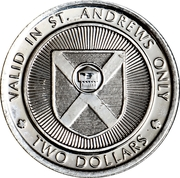 2 Dollars - St. Andrews, New Brunswick (Ministers Island) – revers