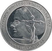 Token - Great Olympic Moments (Peggy Fleming) – avers