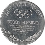 Token - Great Olympic Moments (Peggy Fleming) – revers