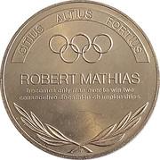 Token - Great Olympic Moments (Robert Mathias) – revers