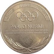 Token - Great Olympic Moments (Paavo Nurmi) – revers