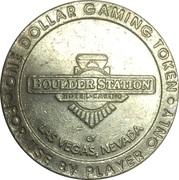 1 Dollar Gaming Token - Boulder Station (Las Vegas, Nevada) – avers