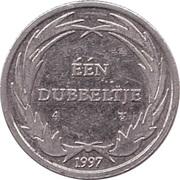 1 Dubbeltje - Walt Disney Dagobert Duck Geluksdubbeltje – revers