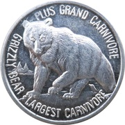 Token - Canada's Northern Wildlife (Grizzly Bear) – revers