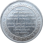 Token - Great Canadian Moments (Opening of St. Lawrence Seaway) – revers