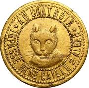 Jeton de maison close Au Chat Noir à Alger – avers