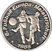 Token - UEFA Euro 1988 – revers