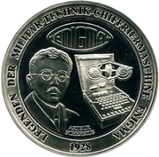 Token - Deutschland (Legends of military equipment - Enigma machine) – avers