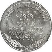 Token - Great Olympic Moments (Donald Schollander) – revers
