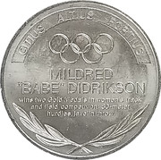 Token - Great Olympic Moments (Mildred Didrikson) -  avers