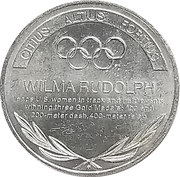 Token - Great Olympic Moments (Wilma Rudolph) – revers