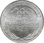 Token - Great Olympic Moments (Francina Blankers-Koen) – revers