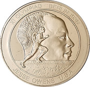 Token - Great Olympic Moments (Jessie Owens) – avers