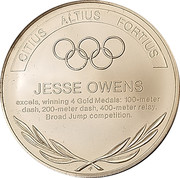 Token - Great Olympic Moments (Jessie Owens) – revers