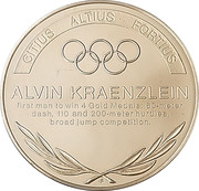 Token - Great Olympic Moments (Alvin Kraenzlein) – revers
