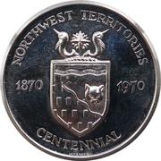 Medal - Northwest Territories Centennial – avers