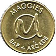 Jeton de jeu - Maggies Bar + Arcade – avers