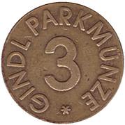 Jeton de stationnement - Gindl Parkmunze 3 – revers