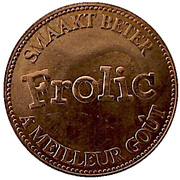 Frolic dogfood commercial token - Collie – revers