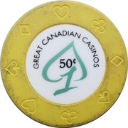 50 Cents - Great Canadian Casinos (Vancouver, British Columbia) – revers