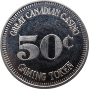 50 Cents Gaming Token - Great Canadian Casino (Vancouver, British Columbia) – revers